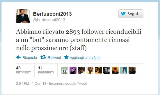 @berlusconi2013 berlusconi e twitter fake