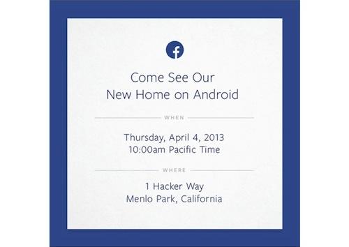 invito facebook phone 4 aprile